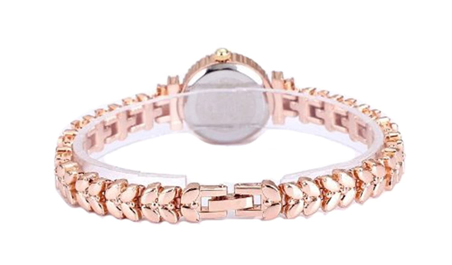 Amazon.com: King Girl royal rose gold bracelet watch women top ...