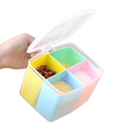 Seasoning Boxes Kitchen Condiment Box Storage Spices Storage Box Spice Jar Split Storage Containers Colorful Detachable  sc 1 st  Amazon.com & Amazon.com: Seasoning Boxes Kitchen Condiment Box Storage Spices ...