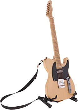 Amazon.es: SM SunniMix Guitarra Beige De Madera A Escala 1: 6 con ...