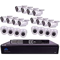Montavue 32 Channel 4K Commercial Surveillance System w/ 20 4MP IP Security Cameras, 6TB HDD & 130ft Color Night Optics – MTIP832612B8E