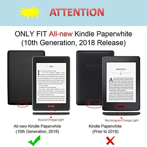 QITAYO All-new Kindle Paperwhite case(10th Generation, 2018 Release) Ultra Slim Shell Kindle Paperwhite Cover with Auto Wake/Sleep Function Lightweight, E-reader PU Leather