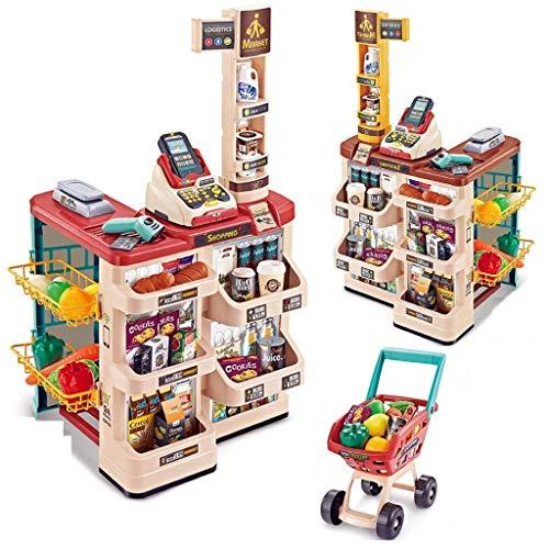 little hands home supermarket set 48pcs kids toys for boys and girls-Plastic,Multi color