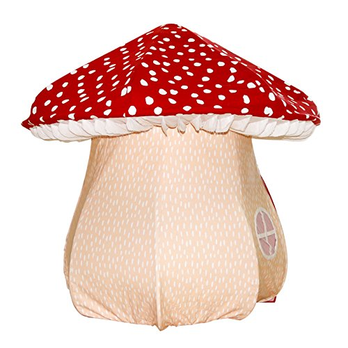 ASWEETS Mushroom Home Cotton Canvas Play Tent, Red/Tan by Asweets (Image #2)