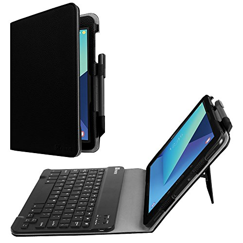 Fintie Keyboard Case for Samsung Galaxy Tab S3 9.7, Premium PU Leather Stand Cover with S Pen Protective Holder Detachable Wireless Bluetooth Keyboard for Tab S3 9.7(SM-T820/T825/T827), Black
