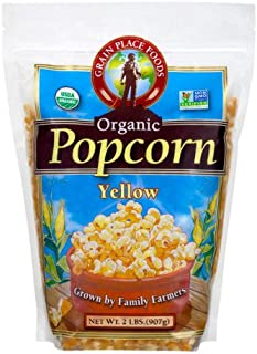 product image for Grain Place Foods Non-GMO Organic Yellow Popcorn 2lb Bag