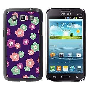 TopCaseStore / la caja del caucho duro de la cubierta de protección de la piel - Purple Pink Teal Pink - Samsung Galaxy Win I8550 I8552 Grand Quattro