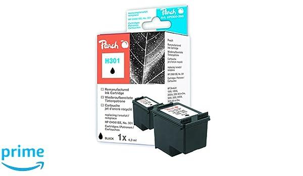 Peach H301 - Cartucho de tinta para HP CH561EE, negro: Amazon.es ...