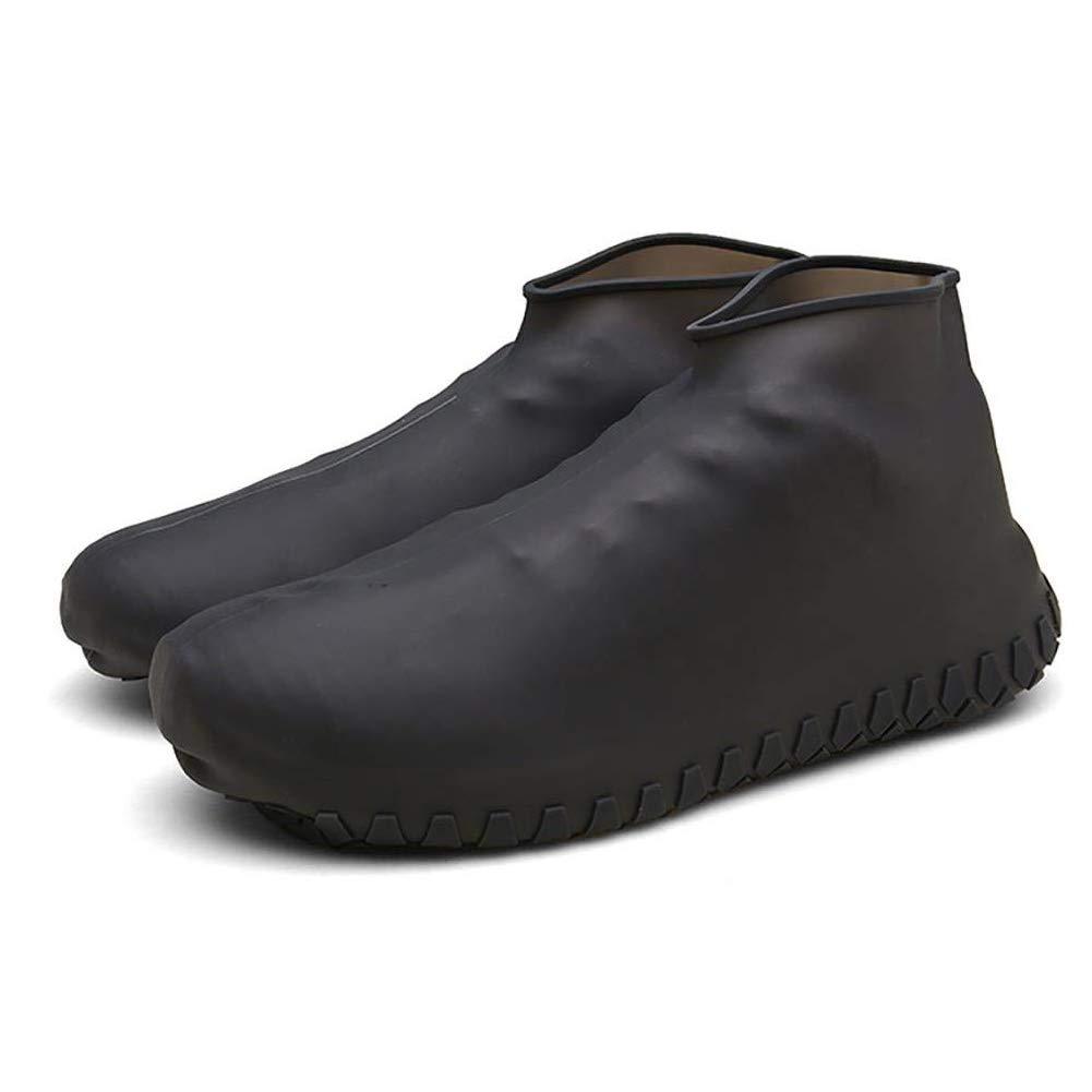 Yisily Chaussures De Silicone Couvre Pluie R/éutilisables Couvre-Chaussures Slip Pluie R/ésistant N/écessaires /à Chaussures pour Le V/élo Ext/érieur XL Noir 1pair