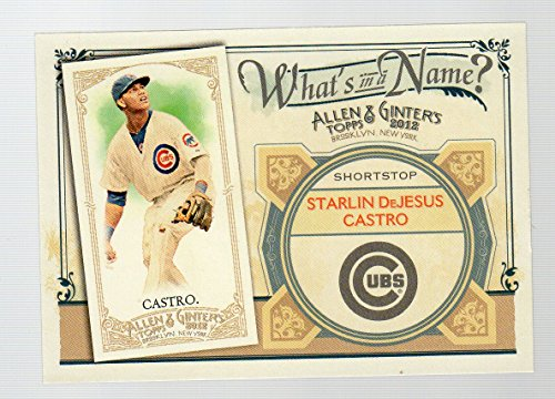2012 Topps Allen and Ginter What's in a Name #WIN27 Starlin DeJesus Castro Chicago Cubs