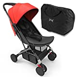 Upgraded 2018 Portable Lightweight Travel Stroller - 1 Hand Foldable Compact Stroller, Adjustable