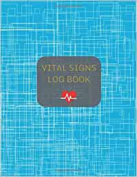 Vital Signs Log Book: Track and record your vital health stats | Cover design with red heartbeat cardio vital signs