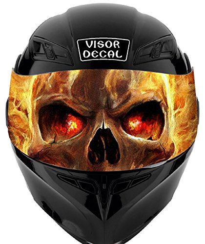 V31 Skull Flames VISOR TINT DECAL Graphic Sticker Helmet Fits: Icon Shoei Bell HJC Oneal Scorpion AGV ()