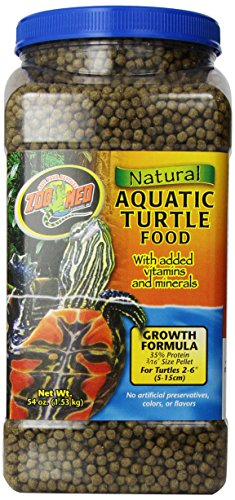 Zoo Med Natural Aquatic Turtle Food, Growth Formula, 54-Ounce