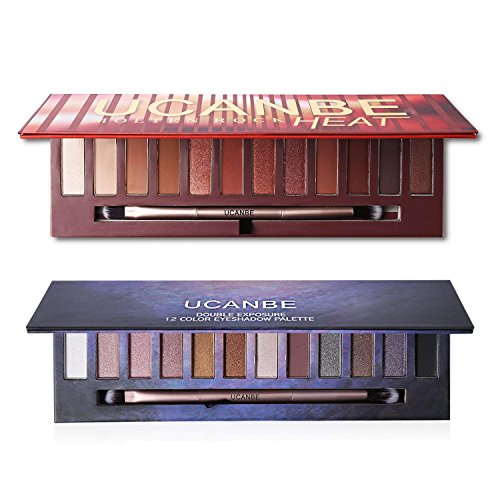 2X12Colors Matte Shimmer Eyeshadow Palette Long-lasting Wate