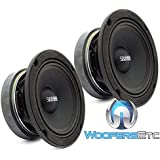 Sundown Audio SXMP-6.5 4-OHM 200 Watts RMS 6.5 4 Ohm Midrange Speakers (Pair)