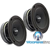 Sundown Audio SXMP-6.5 4-OHM 200 Watts RMS 6.5 4 Ohm Midrange Speakers (Pair)