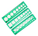 BBF 3 Pcs Drafting Tool Templates