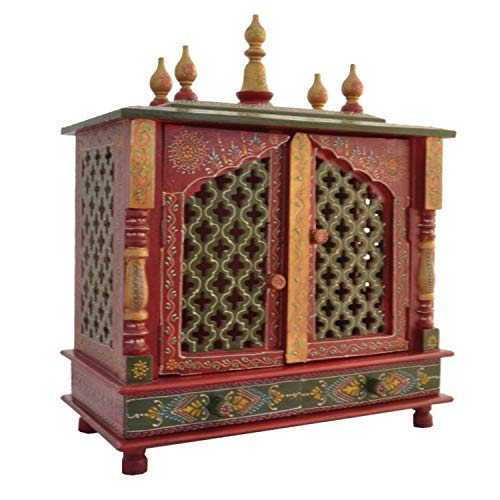 - Jodhpur Handicrafts Wooden Temple/Home Temple/Pooja Mandir/Pooja Mandap/Temple for Home