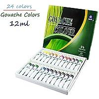 Memory Coffret de 24 tubes de gouache pour artistes professionnels 12 ml