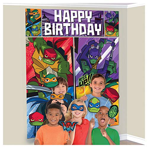 (Rise of the TMNT Scene Setters with Props Teenage Mutant Ninja Turtles Party)