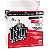 Brawny Industrial 25070CT Heavy Duty Shop Towels, 9 1/8 x 16 1/2, 100/Box, 5/Carton