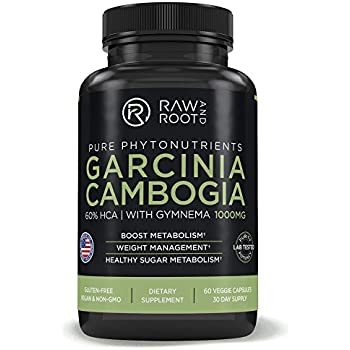 Garcinia CAMBOGIA with GYMNEMA - Weight Loss, Fat Burner & Carb Blocker, Appetite Suppressant - 60% HCA - Dietary Supplement - 60 Vegetarian Capsules