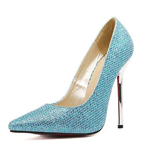 Blue Slip Womens Dress On Paillette Pumps f1xq6wPXx