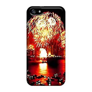 For SamSung Galaxy S6 Phone Case Cover Hard Back With Bumper Happy New Year