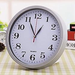 zhENfu 8inch Wall Clock Silent Watch Brief Fashion Electronic Clock Wall Clocks,White Wall Clock
