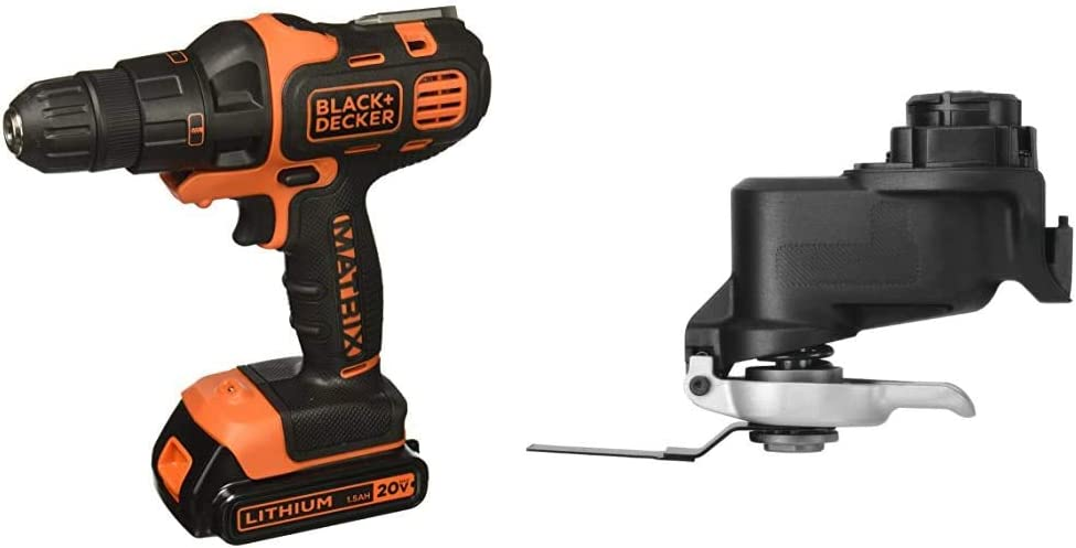 BLACK+DECKER 20V MAX Matrix Cordless Drill Combo Kit, 2-Tool with Oscillating Tool Attachment (BDCDMT120IA & BDCMTO)