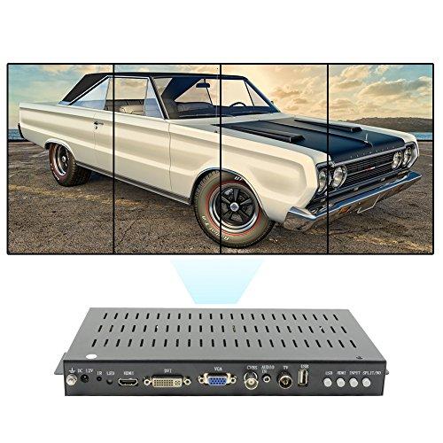 LINK-MI TV04V 90 Degree Rotation Vertical Video Wall Controller 2x2 HDMI+DVI+VGA+CVBS+ATV+USB Image Stitching Splicing Processor