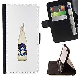 Momo Phone Case / Flip Funda de Cuero Case Cover - Cola Blanca Negro Soda Pop Diseño - Samsung Galaxy A5 ( A5000 ) 2014 Version