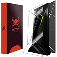 Skinomi TechSkin - NVIDIA Shield TV Brushed Steel Full Body Skin Protector / Front & Back Wrap / Premium HD Clear Film / Ultra Invisible and Anti-Bubble Crystal Shield