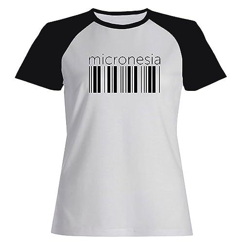 Idakoos Micronesia barcode - Paesi - Maglietta Raglan Donna