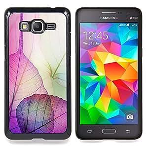 """Hojas florales caída del otoño de la naturaleza"""" - Metal de aluminio y de plástico duro Caja del teléfono - Negro - Samsung Galaxy Grand Prime G530F G530FZ G530Y G530H G530FZ/DS"""