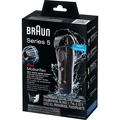 Braun Series 5 5040S Men's Electric Razor/Electric Foil Shaver, Wet & Dry, Cordless & Rechargeable, Pop Up Precision Trimmer by Braun