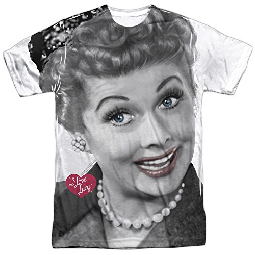 Lucille Ball I Love Lucy Comedian Smiling Close Up Adult Front Print T-Shirt  Medium