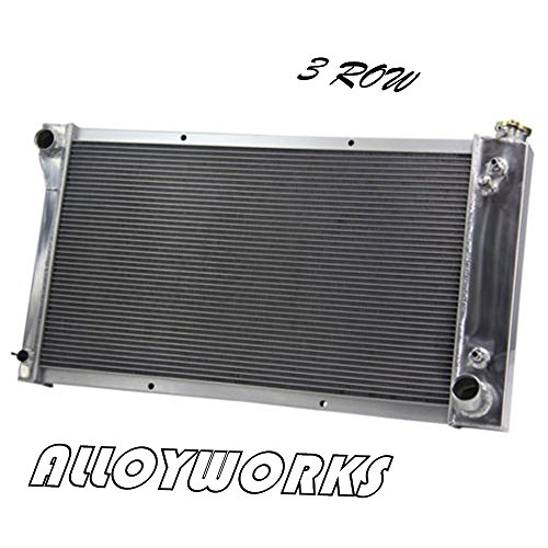 Pickup Truck Car Radiator (ALLOYWORKS 3 Row Core Aluminum Racing Radiator for 1967-1972 Chevy C/K Pickup Truck 10 20 30)