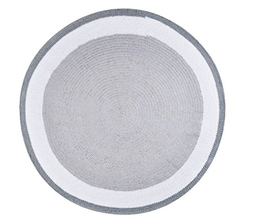 Spot On Square Trio Crocheted Cotton Rug, Grey, 60'' by Spot on Square