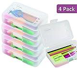 1InTheoffice Pencil Box, Polypropylene Clear (4 Pack)