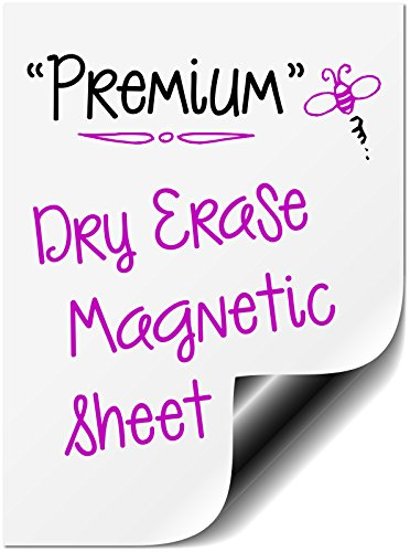 """Bigtime Magnetic 16"""" Dry Erase Message Board for Refrigerator Use as a Horizontal or Vertical Whiteboard Weekly Planner Calendar Fridge Magnet. Also Great as a Meal, Grocery, To Do or Chore List."""
