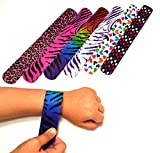 Kyпить 25 Mega Pack Slap Bracelets | Slap Bands Birthday Party Supplies Favors with Hearts & Animal Print | One Size Fits All | For Kids, Boys, And Girls | By Dazzling Toys на Amazon.com