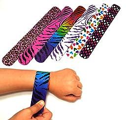 Dazzling Toys Hearts/animal Print Slap Bracelets – Pack of 50- Mega Pack!
