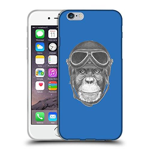"GoGoMobile Coque de Protection TPU Silicone Case pour // Q05290608 Pilote singe Azur // Apple iPhone 6 PLUS 5.5"""