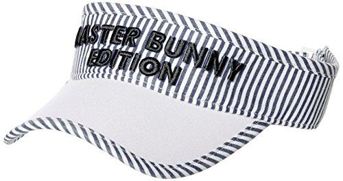 [マスターバニー] [レディース] サンバイザー (ストライプ)/158-8187402/帽子 ゴルフ