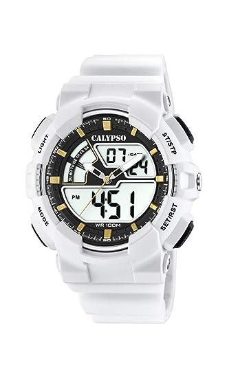 Calypso Watches Reloj Analógico-Digital para Hombre de Cuarzo con Correa en Plástico K5771/1: Amazon.es: Relojes