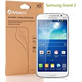 Arbalest® Galaxy Grand 2 Screen Protector, [High Clear][3-PACK] ** JAPANESE Full HD PET FILM ** High Definition Bubble Free Premium Ultra Clear Front Screen Protector for Samsung Grand 2 G7102 G7106