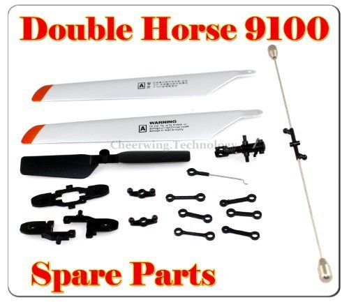 Double Horse 9100 Helicopter Spare Parts main Blade + blade Grip+connect buckle+balance bar+tail blade