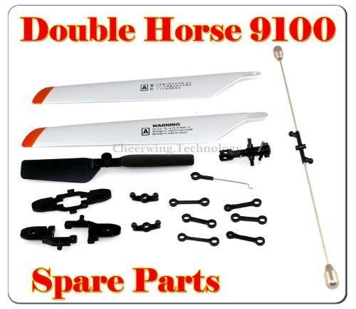 Double Horse Helicopter - Double Horse 9100 Helicopter Spare Parts main Blade + blade Grip+connect buckle+balance bar+tail blade