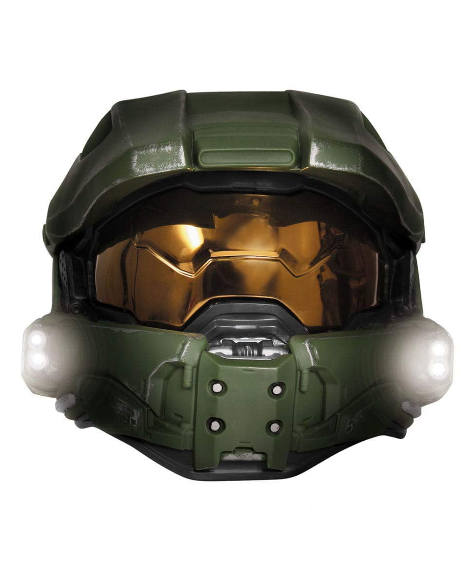 Horror-Shop Casco Halo 3 Masterchief con luz: Amazon.es: Juguetes y juegos